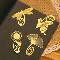 Mignon Mini Kawaii Or Métal Bookmark Paper Clip Antique plaqué Libellule Papillon marque coréenne Statioenry cadeau Creative