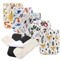 MABOJ pañales pañales pañales bebé bolsillo pañal un tamaño impermeable tapa de pañales reutilizables pañales pañales inserto bebé niño niña os1