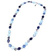 Einzigartige Disc Oval Square Sechseck Shell Halskette Multi-Geometrische Form Shell Perle Halskette Handgemachte Strandkostüm Schmuck