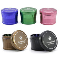 Chanfreinage Sharpstone Grinder Herb 4 couches de 63mm en alliage d'aluminium Grinder tabac 7 couleurs Sharpstone version 2.0