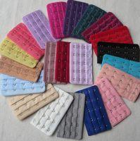 3 ряда 1,2,3,4,5 крюк Бюстгальтер удлинитель женские девушки женские повторное использование без бретелек бюстгальтеров расширение ремешок многоцветные белье материнство дешево LY10143