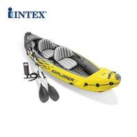 جديد واحد مزدوج كاياك نفخ قارب القارب قارب الصيد قارب سميكة المطاط مطوية الزورق