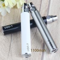 Vapes Battery 510 Thread Thread Penne Penne Batterie Ricaricabili Ugo-T Cartucce 1100 mAh Box Box Packaging UGO VaiPabattery Instock