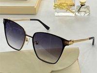 New Fashion Design Sunglasses 2011 Cat Eye Metal Frame Simple Popular Vendite Style Top Quality UV400 occhiali protettivi