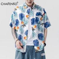 CHAIFENKO 2020 Yeni Sıcak Yaz Plaj Hawaii Boş Gömlek Erkek Tatil Moda Çiçek Gevşek Kısa Kollu Erkek Gömlek Artı boyutu