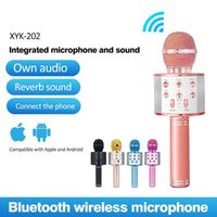 Wireless Karaoke Microphone Bluetooth Handheld Portable Spea...