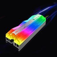 Jonstbo M.2 Argb Lighting M.2 SSD Heatsink 5 فولت 3pin الصلبة الحالة الصلبة القرص برودة المبرد الحرارة الحرارة تبديد الحرارة التبريد