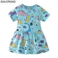 Segler 2-7Years Alte Baby Mädchen Kleider Vestido 100% Baumwolle Kind Kinder Mädchen O Neck Tops T-Shirts Kleider für Neue Mode Kleid1