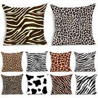 Yastık / Dekoratif Yastık Hayvan Baskı Kılıfı Leopar Kaplan Zebra Inek Yılan Çizgili Yastık Kapakları Ev Kanepe Sandalye Dekoratif Yastık Için