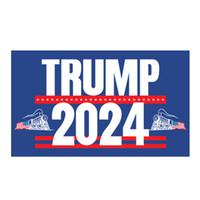 2024 رابحة قطار العلم 90 * 150CM ترامب أعلام الولايات المتحدة الانتخابات الرئاسية ترامب راية أعلام 2024 3 * 5ft XD24401