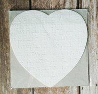 Sublimazione Blank Perle Light Pager Puzzle Cuore Amore Forma Puzzle Transfer Transfer Stampa Blank Consumables Bambino regalo
