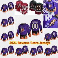 Arizona Coyotes 2021 Reverse Retro Hockey Jerseys Oliver Ekman-Larsson Jersey Conor Garland Jakob Chychrun Max Domi Oesterle Cucito personalizzato