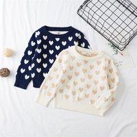 Milancel 2020 новый детский свитер сладкое сердце девушки вязание пуловер зимних мальчиков свитера LJ201128