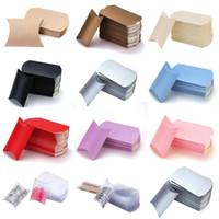 Candy Box Kissenform Geschenk Papier Verpackungskästen Süßigkeiten Taschen Weihnachtsbox Hochzeit Weihnachten Liefert HH9-3726