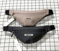 Tanrı'nın Korkusu Essentials 19ss Erkek Bayan Bel Çantaları Sis Çift Hattı Retro Tasarımcısı Kanya Bel Çanta Messenger Göğüs Çanta Siyah