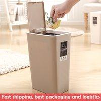 Lixo bin nordic lixo lata de alta qualidade plástico resíduos home escritório lixo lixo balde de armazenamento de poeira lj200815