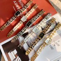 Pablo Raez Heiße Jahreszeiten Frauen Watch Black Square Dial Armbanduhr Mode Dame Quarz Armbanduhr Weibliche Uhr Hohe Qualität Sondergestaltung