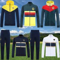 2020 2021 giacca Club America maglia da calcio con cappuccio giacca a vento O.PERALTA 20 21 pareggiare Maglia allenamento di calcio tuta abbigliamento sportivo