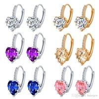 Brinco para mulheres 18k ouro 925 moda jóias para mulheres coroa rhinestone garanhão brincos de cristal grande