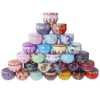 66 Çay Vaka Mumluk Kılıf Çok renkli Şeker Kutusu Düğün Töreni Hediyeler Tasarımları Depolama Teneke Kutu Parti Hediye Paketi CCA12621 300pcs Malzemeleri