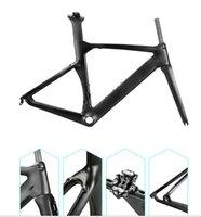 DIY logotipo bicicleta quadro de carbono T1100 1K estrada quadro de bicicleta BOB bicicleta quadro de carbono preto torayca carbono conjunto de quadros pode pintar os quadros logotipo