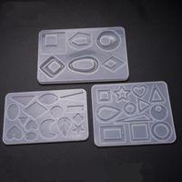 Molde del silicón de DIY cristal epoxi Molde pendientes del collar del molde decorativo artesanía, Arte, Artesanía Colgante molde 3 Diseños BT672