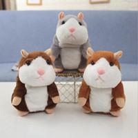 Talking Hamster Fare Pet Peluş Oyuncak Sevimli Ses Kayıt Hamster Konuşma Kayıt Fare Dolması Peluş Hayvan Çocuk Oyuncak