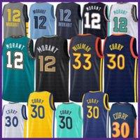 2021 Yeni JA 12 Ahlaki Basketbol Forması Stephen 30 Köri Erkek James 33 Wiseman Draymond 23 Gençlik Çocuklar Klay 11 Thompson Turuncu
