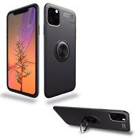 Casi di cellulare casi invisibile staffa magnetica copertura in metallo anello fibbia anti-caduta Shell per iPhone 13 12 Mini 11 Pro Max XR x XS 8 7 6 Plus