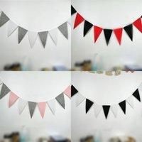 غير المنسوجة النسيج العلم سحب مثلث الأطفال غرفة راية الأعلام حزب زينة ملون بانر المنزل عيد ميلاد التجربة طلب 2 5xy m2
