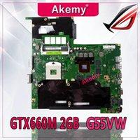 Motherboards AKEMY G55VW Laptop-Motherboard GTX660M 2GB für G55V-Test-Mainboard 100% OK