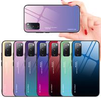 Gradiente Casos de vidro temperado para Samsung Galaxy S20 Fe 5G S21 Ultra nota 10 mais S10 A31 A71 A70 A50 A30 A20
