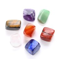 الكريستال الطبيعي شقرا ستون 7 قطع مجموعة الحجارة الطبيعية النخيل ريكي شفاء بلورات الأحجار الكريمة تزيين المنزل acc bbyozg xmh_home
