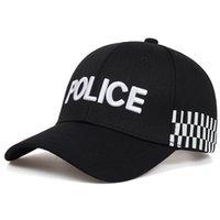 Cappellino da baseball ricamo della polizia di alta qualità Fashion Hip Hop Cappello regolabile Cappello uomo e donne Sport all'aperto Caps Casual Dad HatSX1016