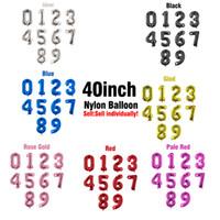 Palloncino da 40 pollici Numero 0-9 Palloncino Foil per decorazione del partito Balloon Anniversary Wedding