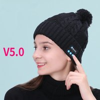 Kablosuz Bluetooth Kulaklık Şapka V5.0 Çağrı Müzik Örme Sıcak Satış Bluetooth Şapka Kulaklık Ücretsiz Kargo