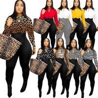 Frauen Body Designerkleidung Mode Langarm Rundhals-Leopard-Druck-Mehrfarben Jumpsuit Sexy One Piece Pants Body F110601