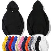 Massivfarbe benutzerdefinierte Hoodies Herren Womens Lose mit Kapuze Langarm Pullover Sweatshirts 3D Custom Casual Top Für Männer Frauen