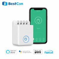 4pcs / set BroadLink Bestcon MCB1 DIY Wifi Wireless Switch Smart Home Automatisation Relais Module contrôleur pour Google Accueil Light Timer