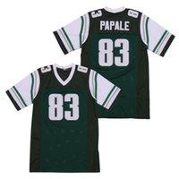 Sıcak Sinema Futbol Yenilmez 83 Vince Papale Jersey Erkekler Satış Nefes Saf Pamuk Dikişli Yeşil Takım Renk Dışarıda Mükemmel Kalite