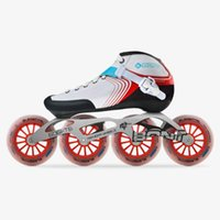 Originale BONT Inline Speed ​​Skates Heatmoldable carbonfiber Boot 4 * 110mm 6061 Elemental ruote Pattinaggio Patines