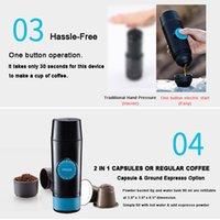 Freeshipping 2 em 1 cápsula Mini Mini Espresso Máquina de Café Quente e Frio Extração USB Café Elétrico Fazendo Máquina