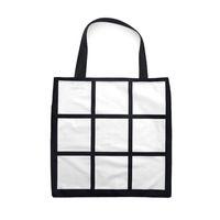 NUEVO blanco sublimación del bolso térmicas Nueve cajas de la red bolsas de mano regalos de bricolaje Llanura lados dobles de calor Impresión Almacenamiento de Navidad F102001