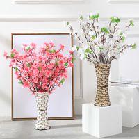 1 PC 65cm 인공 체리 봄 매화 복숭아 벚꽃 가지 실크 꽃 나무 홈 파티 웨딩 장식 20 PCS / LOT