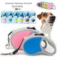 Alta Qualidade Colares Colares Leashhes Designer Animais de Estimação Cães Retrátil Automático Cães Portáteis Arnês de Pet