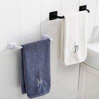 Porta asciugamani tracciati Foro Cucina Cucina gratuita Dishcleth PP Holder Monolayer Bar Multi Funzione Home Solido Colore Square Acqua Quadrato 4Yha L2
