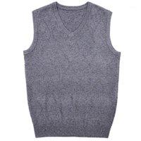 Мужские жилеты Macrosea V-образным вырезом ромб узор трикотаж шерстяной свитер классический дизайн бизнес повседневная мужская смесь пуловер Arival1