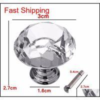 5 pçs / set 30mm diamante armário de cristal armário armário gaveta guarda-roupa porta dobrador pull qylyqp new_dhbest