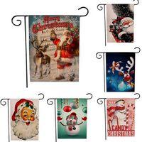 홈 크리스마스 선물 새해 크리스마스 매달려 깃발 아마 산타 문 배너 메리 크리스마스 야외 장식 크리스마스 장식