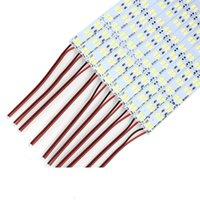 Doble fila 1M DC 12V 144PCS * SMD 5630 5730 LED Barra rígida LED LED 100 cm Cabinete Light Blanco 50m